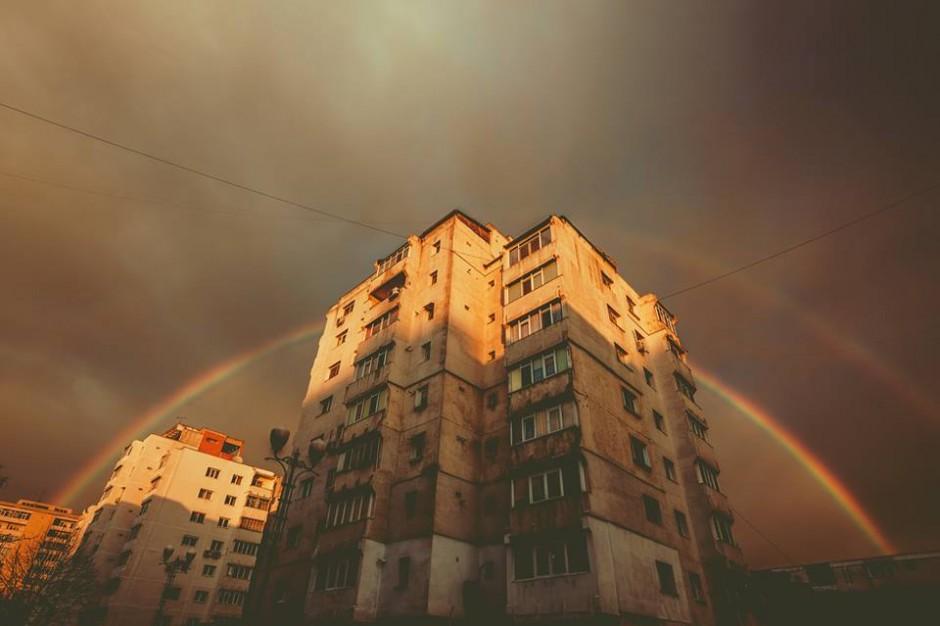 #valibarbulescu #rainbow #dusk #Iasi #Romania
