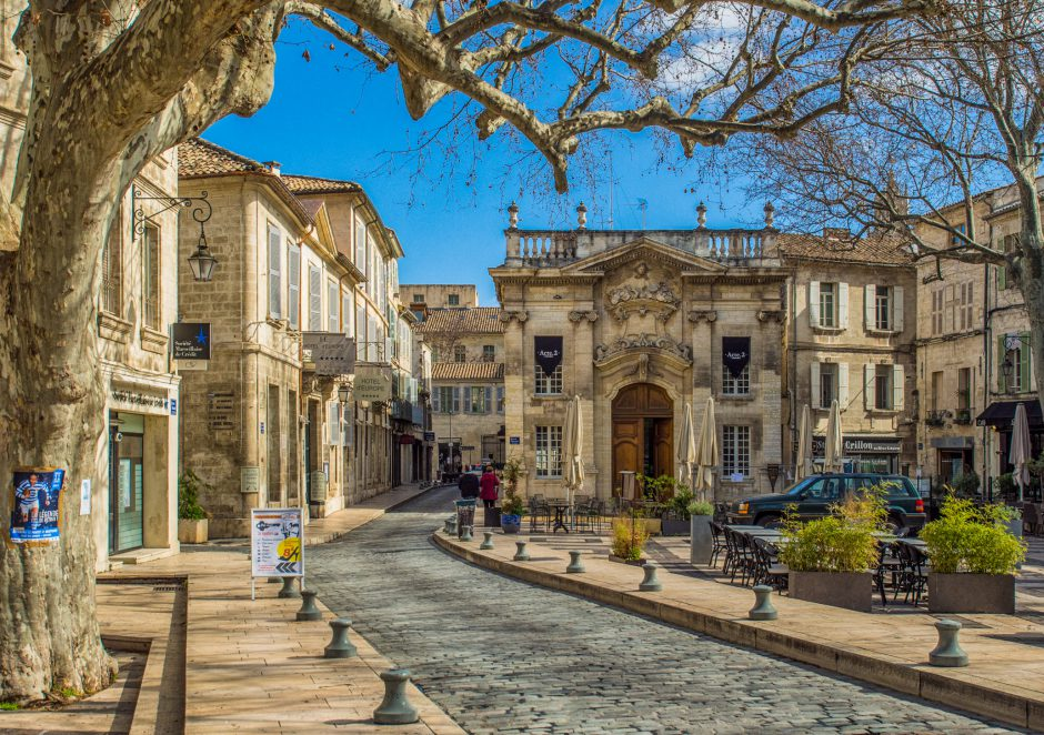 This is Place Crillon in Avignon, within the City Walls. A beautiful and nice place to enter the city!