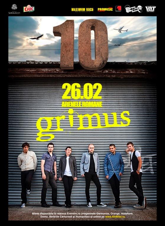 afis concert Grimus 10 ani