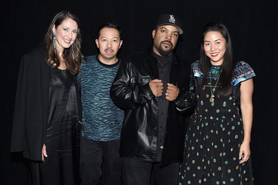 NEW YORK, NY - OCTOBER 19: Ann-Sofie Johansson, Humberto Leon, Ice Cube, and Carol Lim backstage during KENZO x H&M Launch Event Directed By Jean-Paul Goude' at Pier 36 on October 19, 2016 in New York City. (Photo by Nicholas Hunt/Getty Images for H&M)